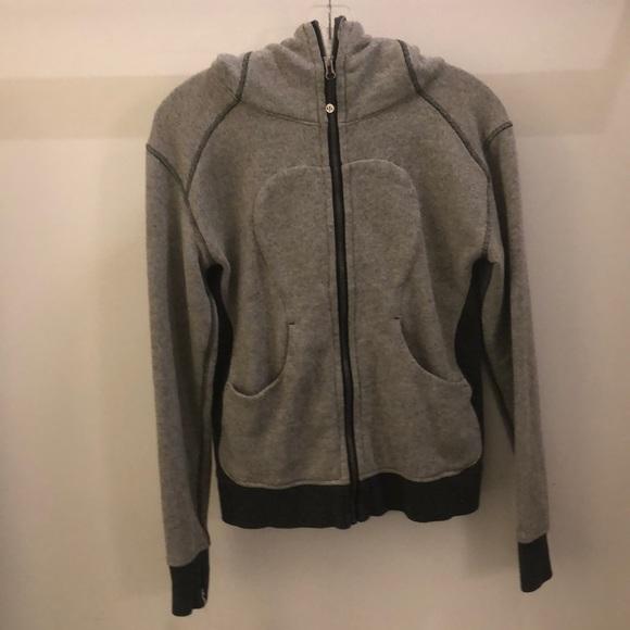 lululemon athletica Tops - Lululemon gray soft zip up hoodie sz 4 68831